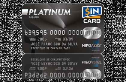 Cartão SiN CARD Platinum